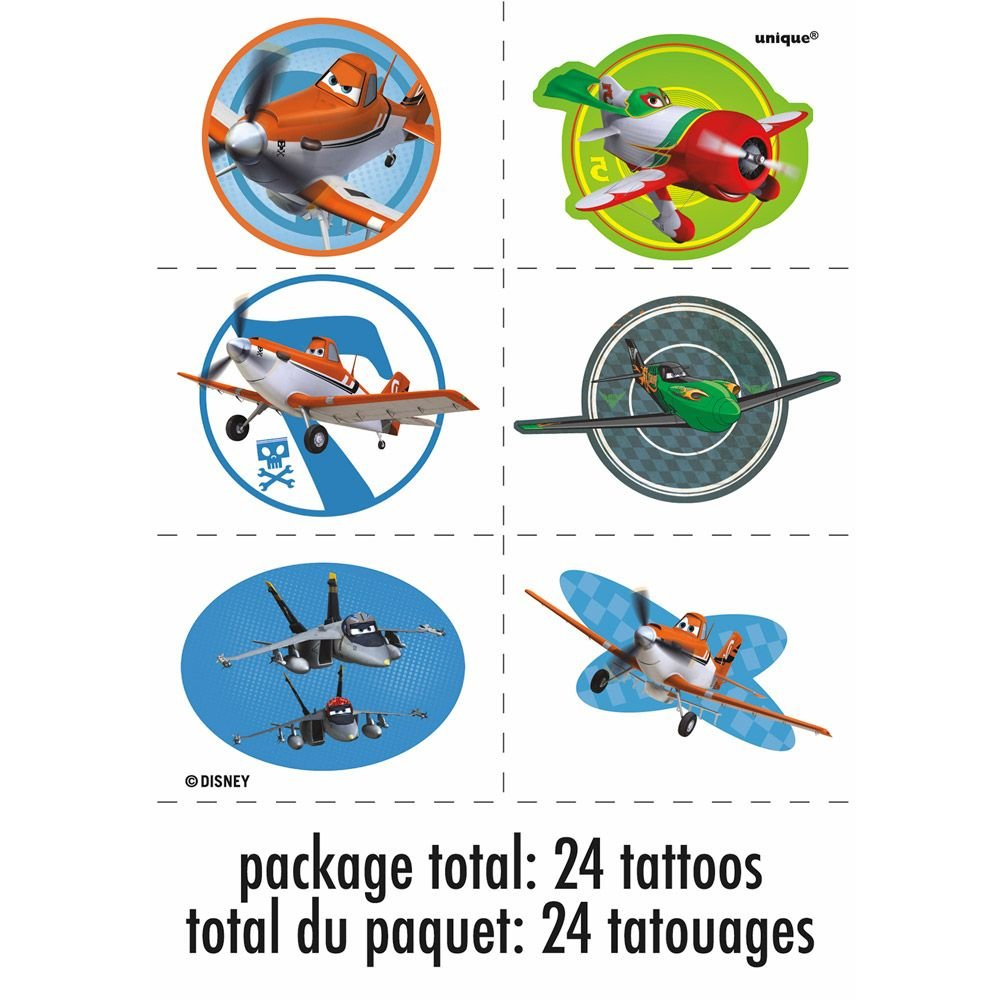 Disney Planes Tattoos [4 Sheets Per Pack]: Amazon.es: Juguetes y ...