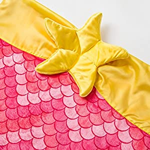 Kids Mermaid Tail Blanket for Girls Super Soft Fleece Toddler Teens Children Mermaid Sleeping Bags Best Choice for Birthday Gift,55.9 Inch Pink