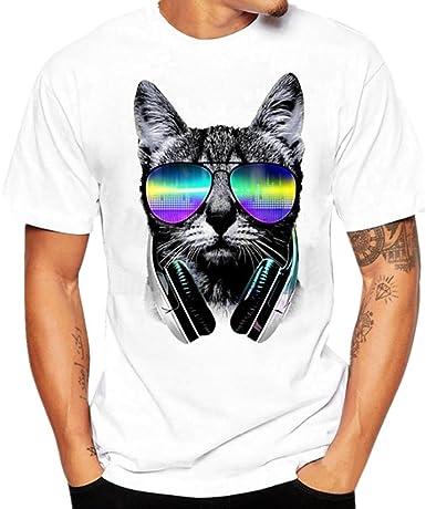 Camiseta para Hombre, Xinan Graphic Set-In Neck, Camiseta, Hombre, Blanco, M-3XL: Amazon.es: Ropa y accesorios