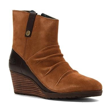 8f74ddb479a The North Face Bridgeton Wedge Zip Dachshund Brown Darkest Spruce Womens  Side Zipper Size 6.5