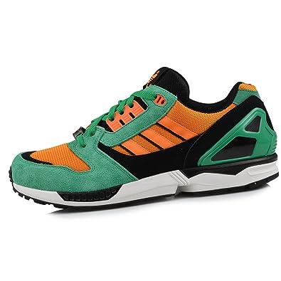 16b568a5a313a Adidas Originals ZX 8000 Running Trainers - Green Orange 7 UK ...
