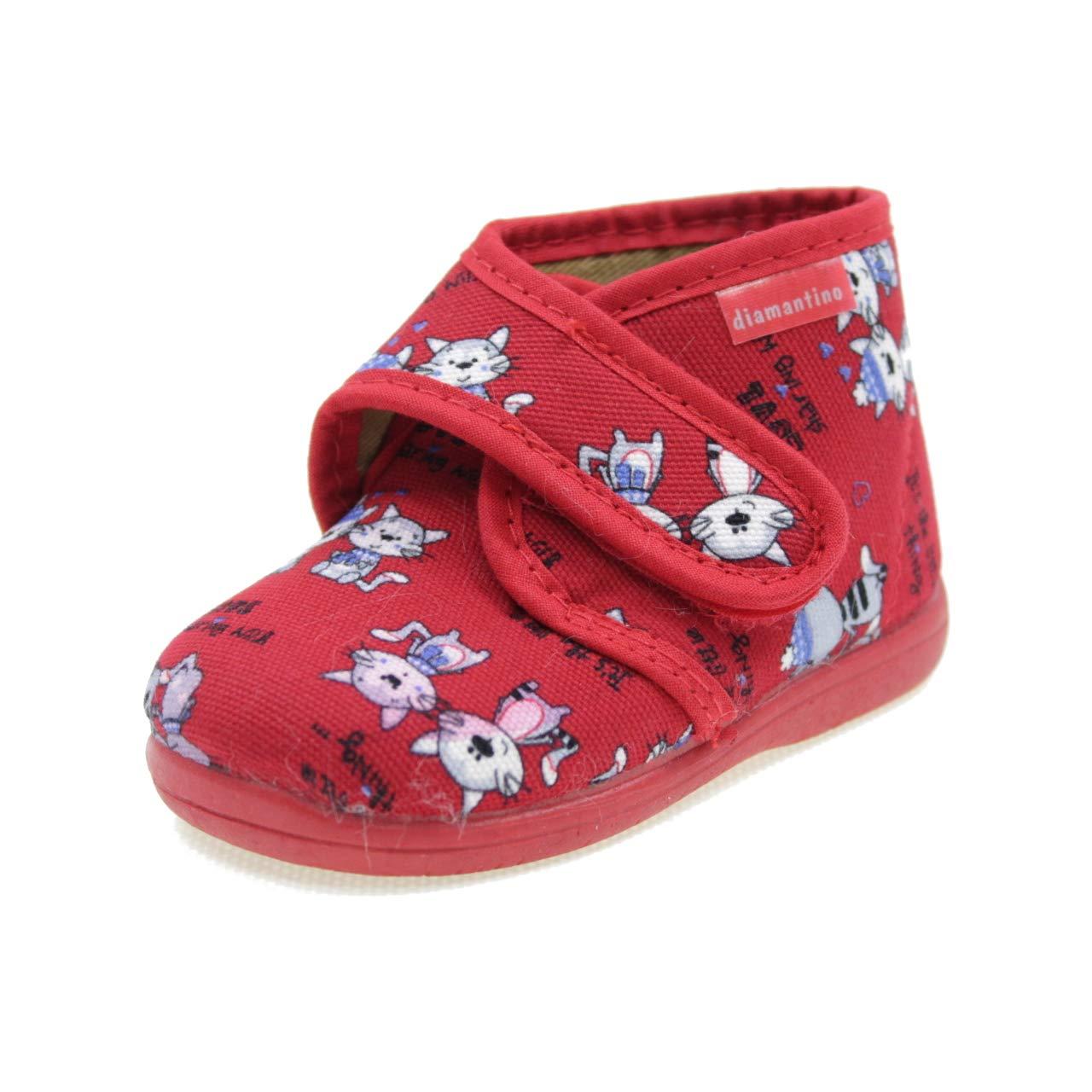 DIAMANTINO Pantofole A Strappo Fantasia Coniglio Bambina OL2245R Rosa