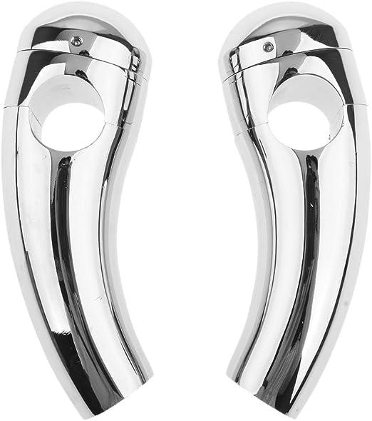 Silber 10cm Almencla Paar Motorrad Silber 1Lenker Risers Lenker F/ür Yamaha