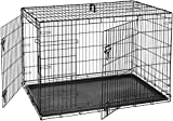 Cheap AmazonBasics Double-Door Folding Metal Dog Crate – 48 Inches