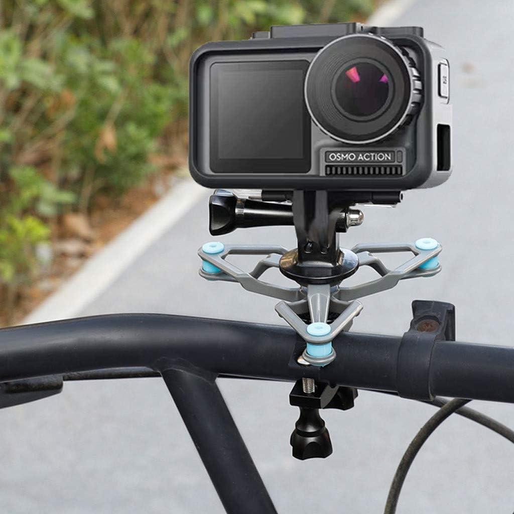 Bicycle Bike Gopro Anti-Vibration Bracket Adapter HD 4K Sport Camera Holder Mount Damping Absorbing Set with Screw CMrtew for Osmo Pocket Action Camera Bike Shock Mount