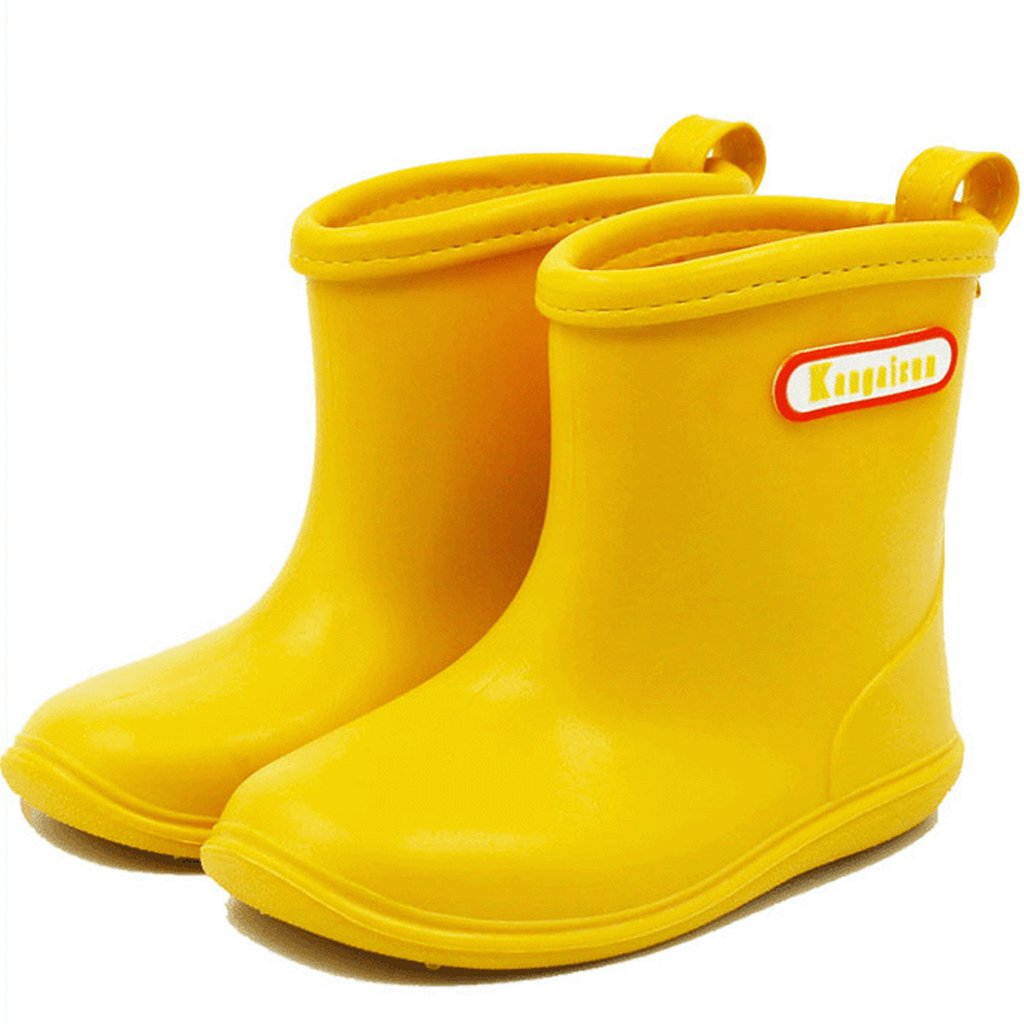 Baby Infant Toddler Wellies Wellington Non-Slip Rain Boots PVC Rain Shoes for 1-6 Years Old BAIYOU