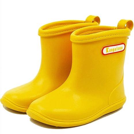 7a9f57c811b BAIYOU bebé de goma para niños Botas de lluvia impermeable botas de agua  Wellington para 2