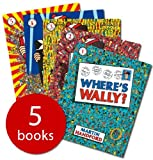 Where's Wally books: 5 large picture books and 1 Sticker Book (Where's Wally / Where's Wally Now / Wheres Wally The Fantastic Journey / Wheres Wally The Wonder Book / Wheres Wally In Hollywood)