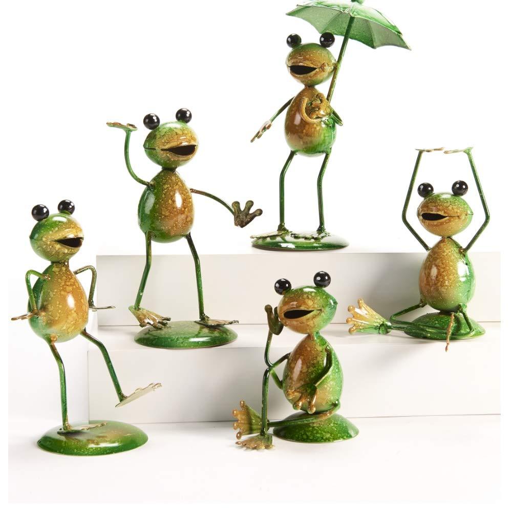 Giftcraft Metal Frog Garden Figurines (Set of 5)