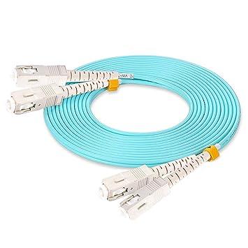 Amazon.com: Cable de conexión de fibra óptica multimodo SC a ...