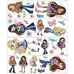Lunarland BRATZ 32 BiG GLow in the Dark Pixie Fairies Doll Wall Stickers Room Decor Decals
