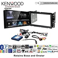 Volunteer Audio Kenwood DDX9704S Double Din Radio Install Kit with Apple Carplay Android Auto Fits 2013-2014 Buick Enclave, 2013-2014 Chevrolet Traverse (Steering wheel controls)