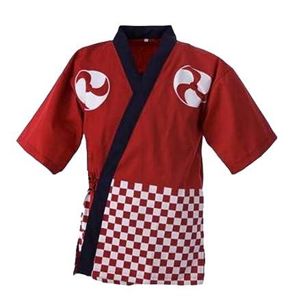 Ropa de trabajo unisex Ropa de chef japonesa Chaqueta de chef de sushi Uniforme de cocina