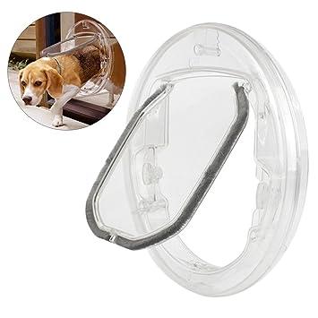 Zhaoke 4 Modos Puerta para Gatos Perros Pequeños, Gatera Magnética de PC Transparente con Interruptor Giratorio: Amazon.es: Productos para mascotas