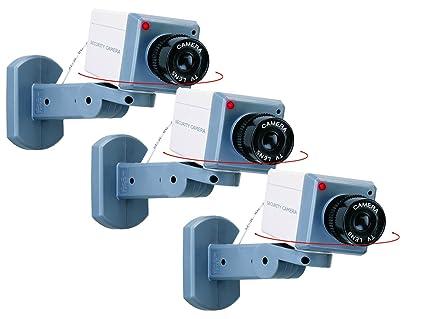 Smartwares Juego de 3 de cámara falsa Dummy, giro de movimiento, detector de movimiento