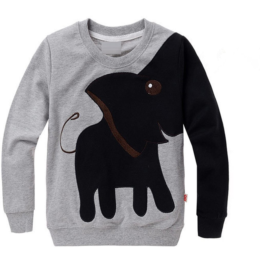 daqinghjxg New Cartoon Long Sleeve Children Sweater Pullover Top Shirts