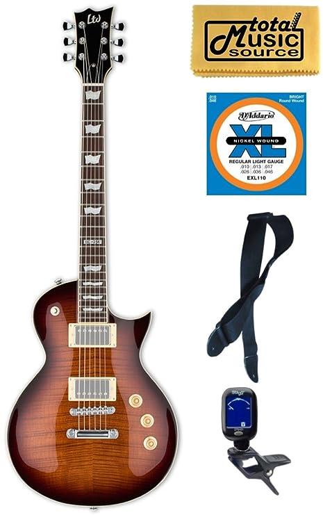 Esp Ltd ec-256fm, para guitarra eléctrica, de madera de color marrón oscuro