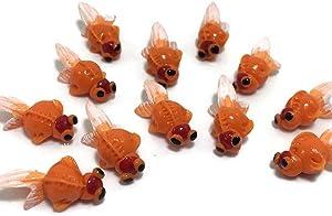 Mr_air_thai_Miniature Lot of 12 Miniature Goldfish Fairy Garden Supplies Animal Fish Figurine Furniture Dollhouse GD#019