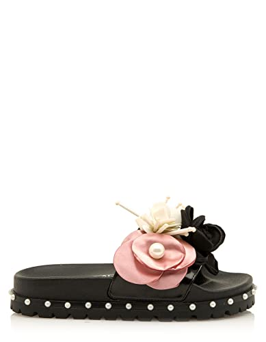 SixtySeven Flat Flower Sandals (39 - Black)  Amazon.co.uk  Shoes   Bags b1f324ed7fe1