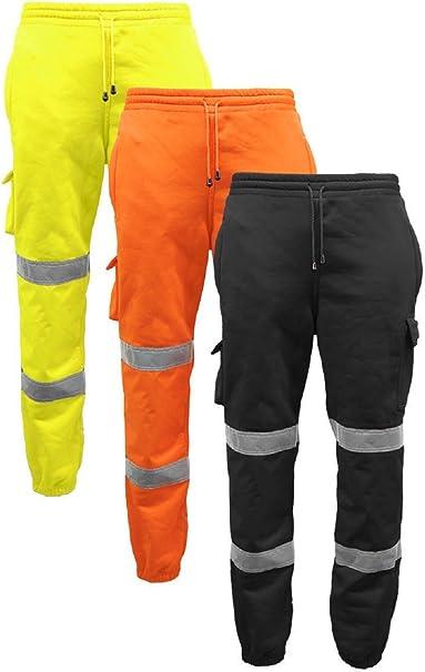 Hi Viz Vis Joggers Trousers Safety Workwear Jogging Bottoms Sweat Pants