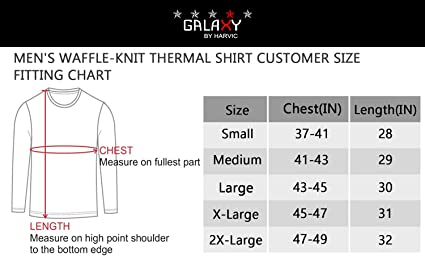 Multiple Sizes//Colors Galaxy by Harvic Mens Crew Neck Thermal Shirt