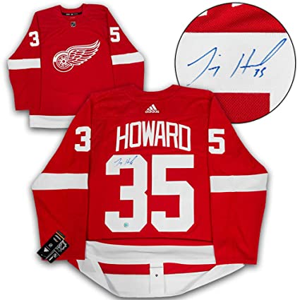 Image Unavailable. Image not available for. Color  Jimmy Howard Detroit Red  Wings Autographed Adidas Authentic Hockey Jersey 144c5a67c