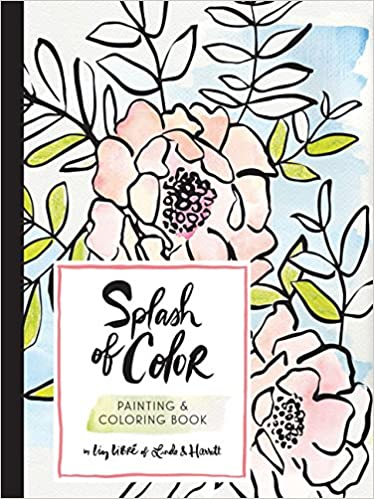 Amazon Com Splash Of Color Painting Coloring Book 9781452155067