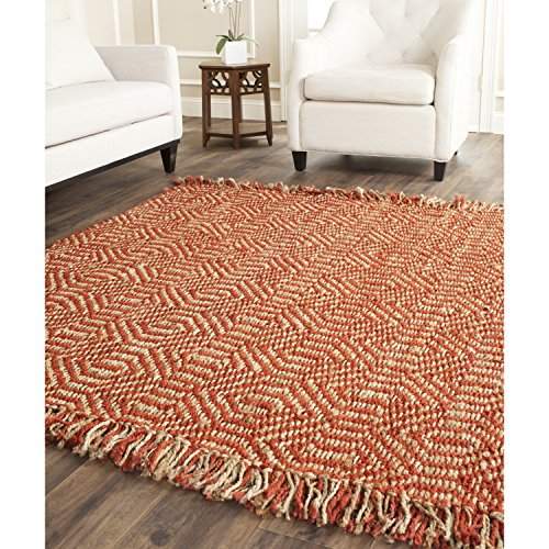 Safavieh Natural Fiber Collection NF445A Diamond Weave Rust Sisal Square Area Rug (6' Square) ()
