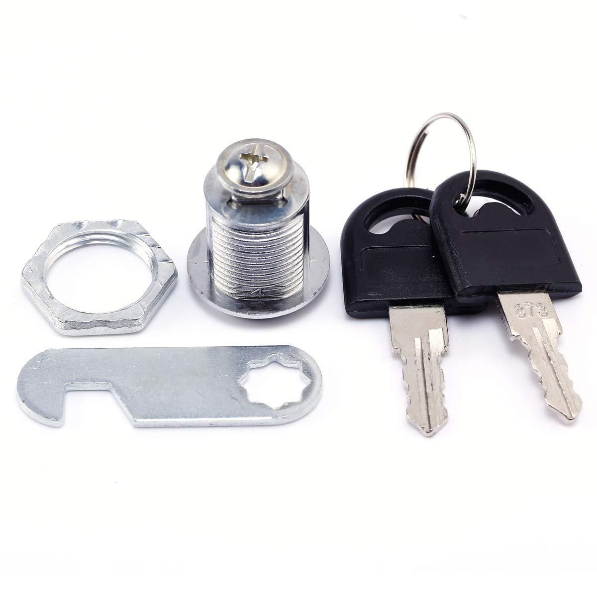 SurePromise 4 paquetes de cerraduras para armario para puerta caj/ón buz/ón con llaves caja de herramientas