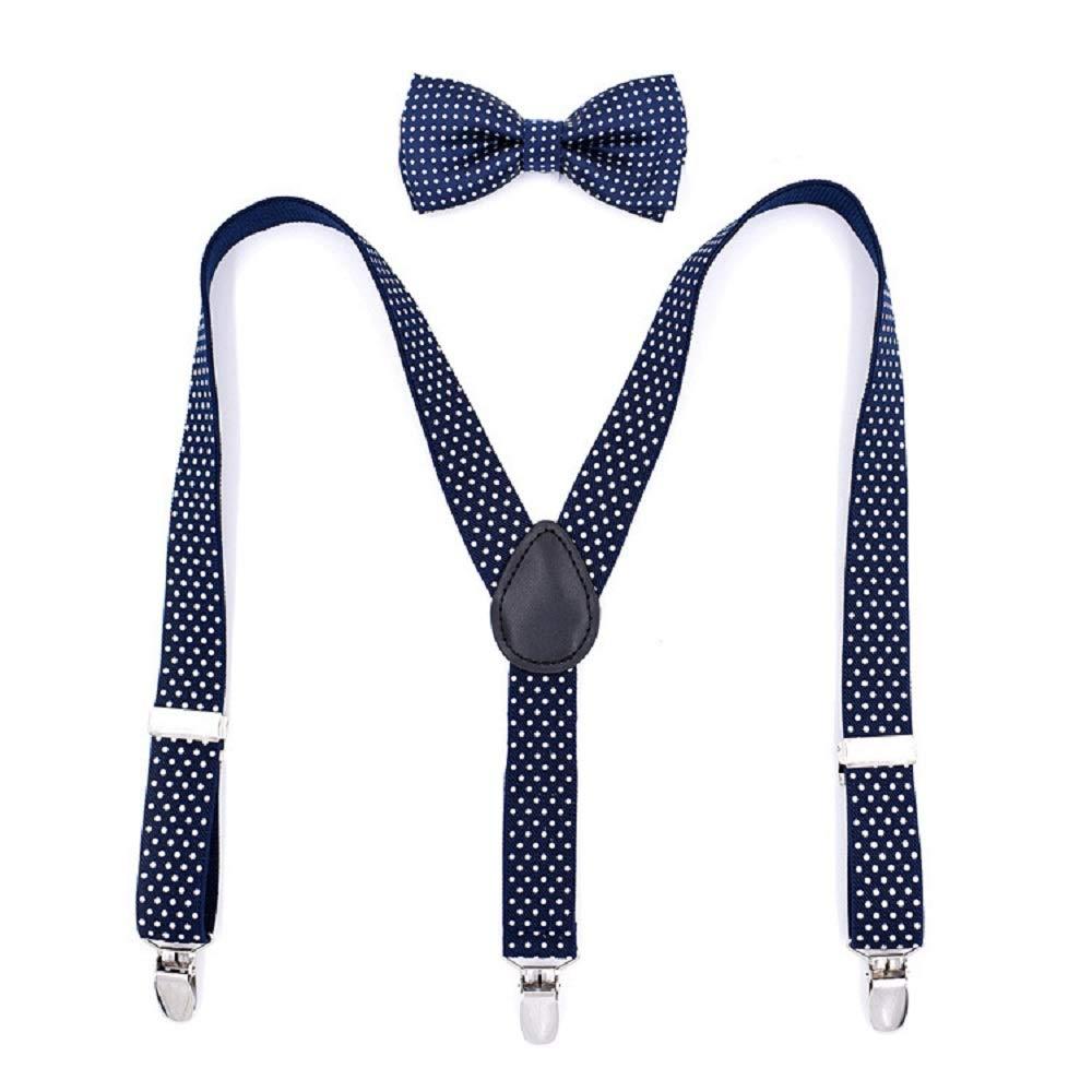 Suspenders Suspend Tirantes de 2.5 mm para niños Juego de Corbata ...