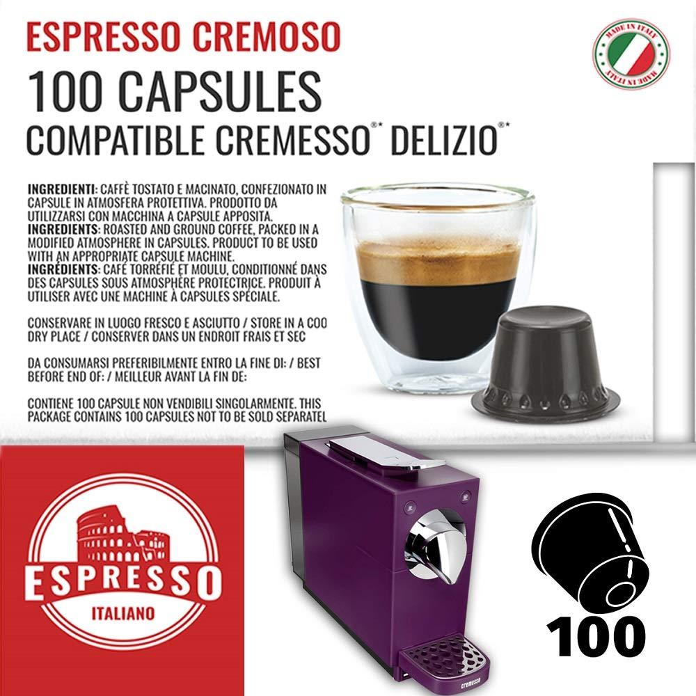 100 Cápsulas Cremesso® Delizio® Compatibles Café Cremoso: Amazon ...