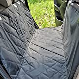 Dog Bed with Washable Cover - Car Seat Covers for Dogs - Washable - Waterproof - with Non-Slide Back Side - Pet Hammock for Car -Easy Installing Bench Seat Cover with Straps and Belt Holes -Comes with Storage Bag and Dog Seat Belt