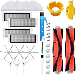 Theresa Hay Accessories for Xiaomi Mijia Roborock Robot Vacuum Cleaners E5 E6 E20 E25 E35 S6 S5 S50 S51 Robock2- Side Brushes, HEPA Filters, Main Brush, Cleaning Cloths, Filter Tank Parts