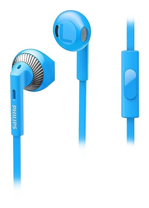 251 opinioni per Philips SHE3205BL/00 Cuffie Auricolari con Microfono, Blu