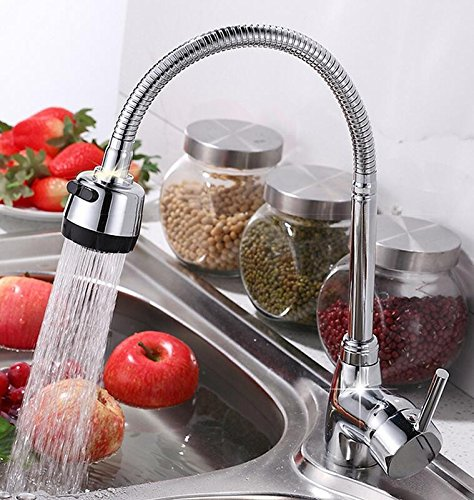 CZOOR Solid Brass Mixer Tap Cold And Hot Water Kitchen Faucet Single Hole Kitchen Sink Tap Multifunction 360 redate Faucet Wish Hose