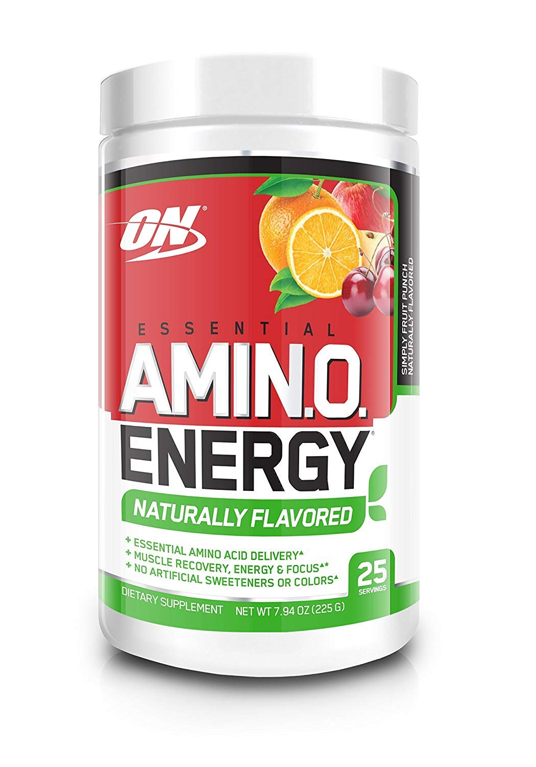 OPTIMUM NUTRITION Naturally Flavored ESSENTIAL AMINO ENERGY, Simply Fruit  Punch, Preworkout and Essential Amino