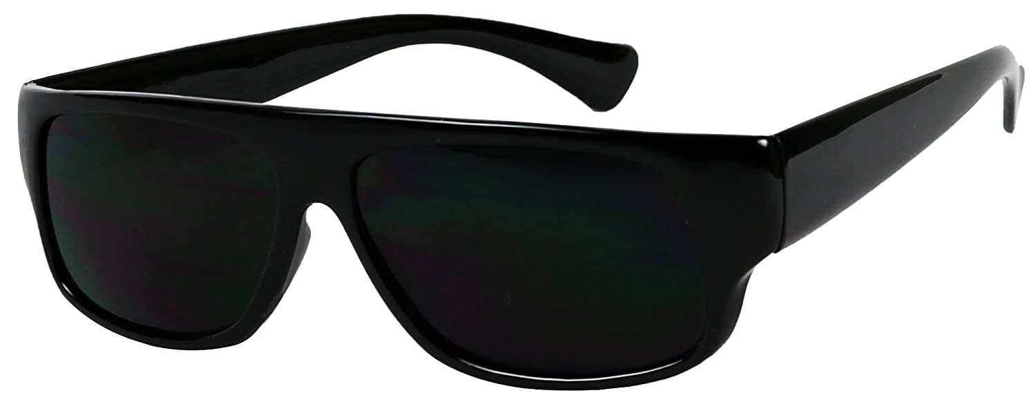 4acd330583 Amazon.com  Basik Eyewear - OG Flat Top Eazy E Shades w  Super Dark Lens Gangster  Sunglasses (2-Pack Black