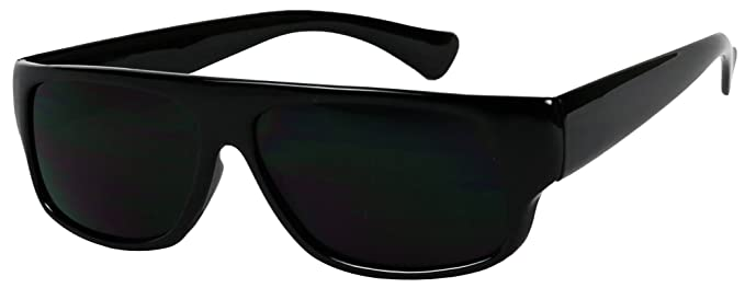 Basik Eyewear - Super Original Old School Eazy E Gangster Dark Lens Sunglasses, Black
