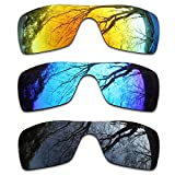 ToughAsNails 3Pair Polarized Replacement Lenses for Oakley Batwolf Pack-IFB1