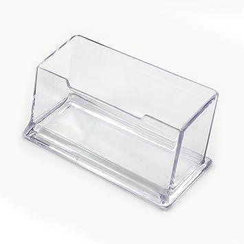 1 Pcs Presentoir A Carte De Visite En Plastique Dur Transparent Compartiment Simple Porte