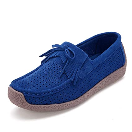 86f79f33efb11 Amazon.com: August Jim Women Loafers Shoes,Slip-On Round Toe Solid ...
