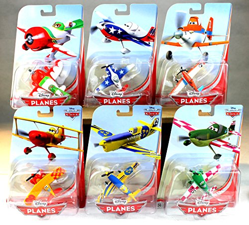6er SET DISNEY PLANES 1 FLUGZEUGE DUSTY LJH EL CHU SUN WING JAN MATTEL 1:55