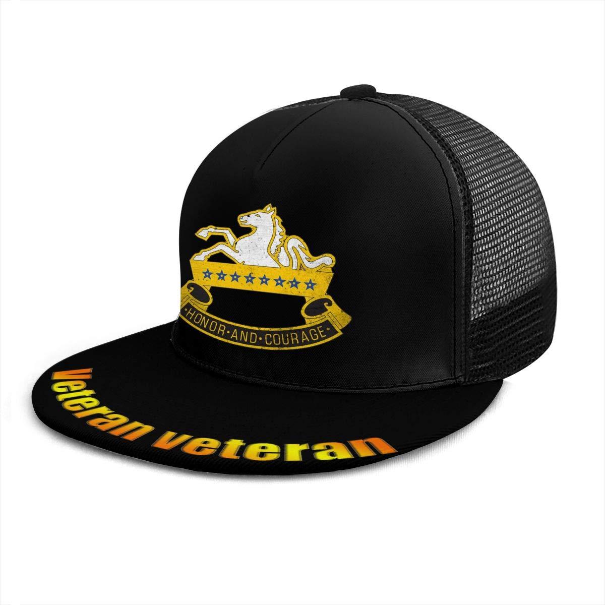 US Army Retro 8th Cavalry Regiment Classic Grid Caps Flat Along Baseball Hat Snapback Men Women Caps Adjustable