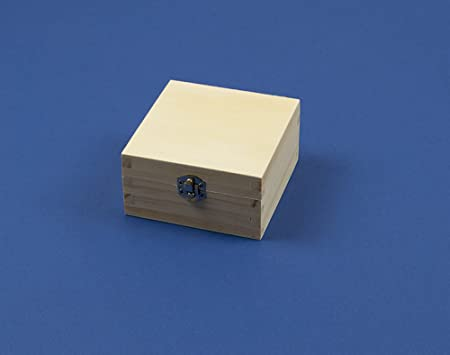 Small Square Wooden Box With Clasp To Decorate 40cm X 40cm X 4040cm Beauteous Small Wooden Boxes To Decorate
