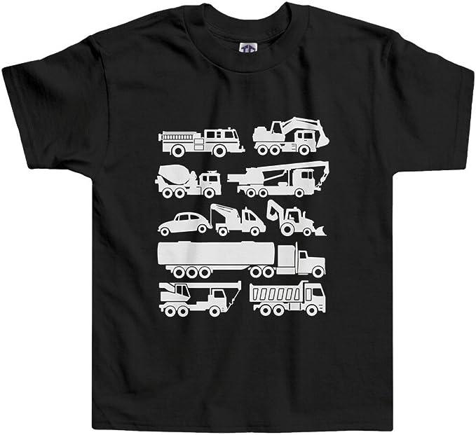 Threadrock Kids Trucks Toddler T-shirt contruction fire engine