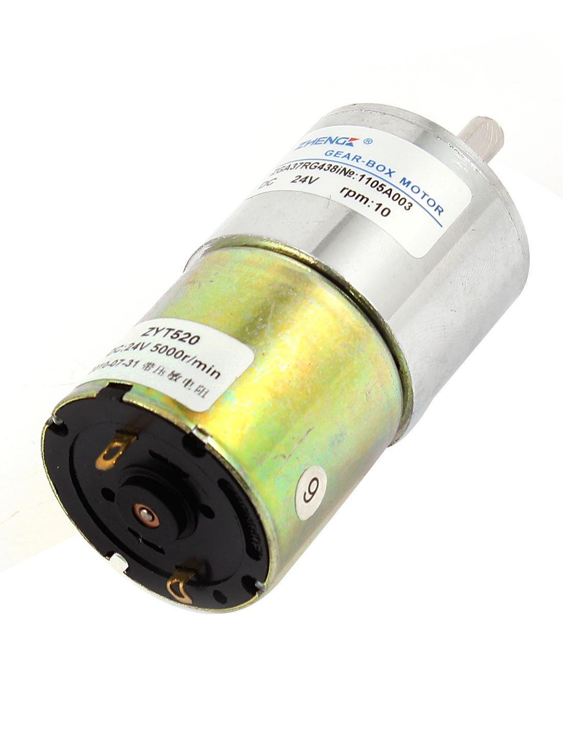 eDealMax DC 24V 10rpm 6 mm Diam cylindre électrique magnétique Geared Motor Box