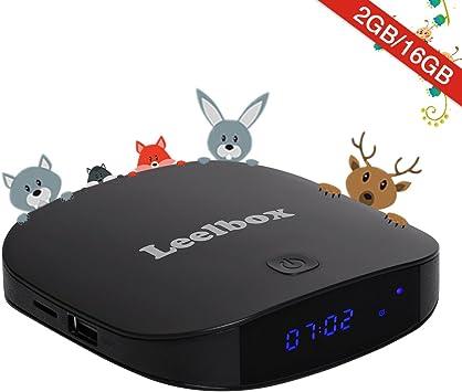Leelbox Q2 Mini Android 7.1 TV Box Smart TV Box 2GB RAM+8GB ROM con BT 4,0. Soporta 4K(60HZ)/2.4G y 5G WIFI/3D/4K/HD/H.265: Amazon.es: Electrónica