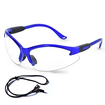 Safety Glasses 12Pcs Protective Glasses,Safety Goggles Eyewear Eyeglasses for Eye Protection with Clear Plastic Lenses and Featuring Rubber Nose And Ear Grips,Comfortable Fit,For Sports DIY etc.