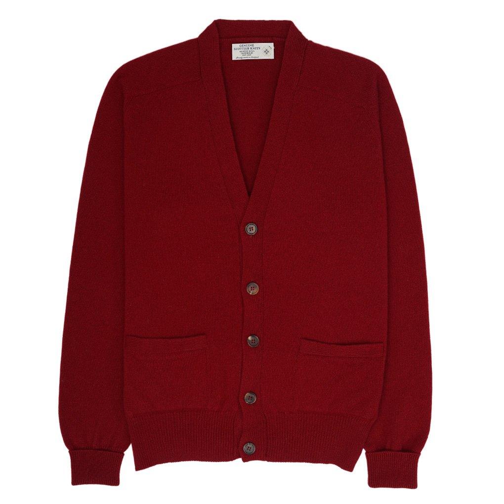 Geelong Lambswool V-neck Cardigan