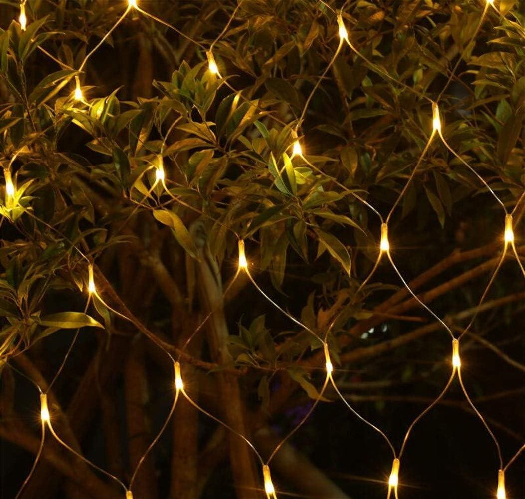 ALALA Outdoor-Fee Nettolicht Size : 1.5M*1.5M 8 Modi Blinkende Warme Wei/ße LED-Garten-Schnur-Licht for Haus Zaun Deck Schlafzimmer-Wand-Innendekoration